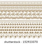 set of vector borders  ... | Shutterstock .eps vector #152923370