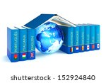 books with flags and languages... | Shutterstock . vector #152924840