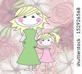 mothers design over roses... | Shutterstock .eps vector #152926568