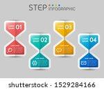 geometric sandglass shape... | Shutterstock .eps vector #1529284166