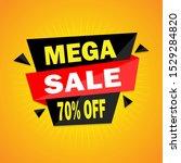 mega sale banner template... | Shutterstock .eps vector #1529284820