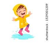 Happy Cute Kid Girl Play Wear...