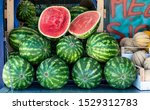 watermelons on shelf. cutted...   Shutterstock . vector #1529312783