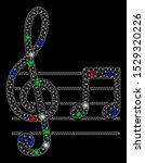 bright mesh musical notation... | Shutterstock .eps vector #1529320226