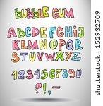 Creative cartoon 3d abstract glossy bright cheery font
