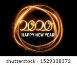 gold 2020 happy new year party... | Shutterstock .eps vector #1529338373