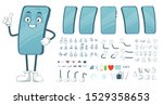 cartoon smartphone mascot.... | Shutterstock .eps vector #1529358653