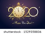 happy 2020 new year. party... | Shutterstock .eps vector #1529358836