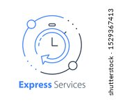 fast services  stopwatch thin... | Shutterstock .eps vector #1529367413