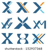 different designs with letter x ...   Shutterstock .eps vector #152937368