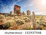 crazy western town | Shutterstock . vector #152937548