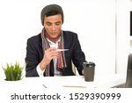 asian man in a hat  scarf and...   Shutterstock . vector #1529390999