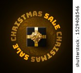 christmas sale poster design...   Shutterstock .eps vector #1529408546