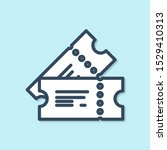 blue line cinema ticket icon... | Shutterstock .eps vector #1529410313