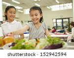 students reaching for healthy...   Shutterstock . vector #152942594