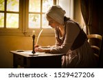 Vermeer Style Portrait Of A...