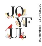 joyful  merry christmas card... | Shutterstock .eps vector #1529436230