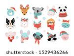 collection of christmas cute... | Shutterstock .eps vector #1529436266