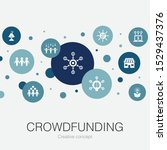 crowdfunding trendy circle...
