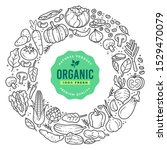 set of doodle organic... | Shutterstock .eps vector #1529470079
