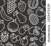 seamless fruit pattern  black... | Shutterstock .eps vector #1529470139