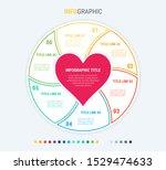 infographic love template. 6... | Shutterstock .eps vector #1529474633