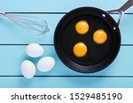Three Eggs Cracked For Frying...