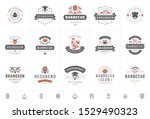 grill and barbecue logos set... | Shutterstock .eps vector #1529490323
