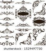 ornamental design lace borders...   Shutterstock .eps vector #1529497730