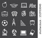 education back to school icons... | Shutterstock .eps vector #152953040