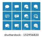 message bubble icons on blue...