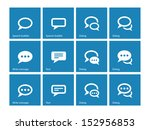 speech bubble icons on blue... | Shutterstock . vector #152956853