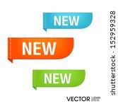 new labels vector | Shutterstock .eps vector #152959328