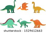 enormous big dinosaurus of... | Shutterstock .eps vector #1529612663