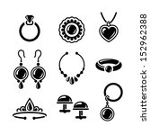 set of jewelry icons in vector | Shutterstock .eps vector #152962388