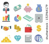 flat design icons of finance  ... | Shutterstock .eps vector #152964179