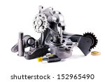 auto parts on a white... | Shutterstock . vector #152965490