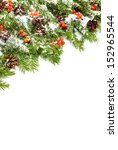 christmas background with snow  ... | Shutterstock . vector #152965544