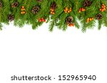 christmas green  framework with ... | Shutterstock . vector #152965940