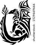 dragon geometric modern design...   Shutterstock .eps vector #1529669666
