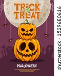 greeting card halloween party... | Shutterstock .eps vector #1529680616