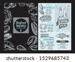 seafood menu template for...   Shutterstock .eps vector #1529685743