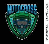 motocross helmet simple logo... | Shutterstock .eps vector #1529686436
