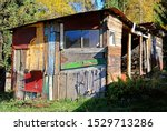 Ramshackle Old Shed With An...