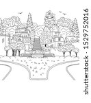 hand drawn ink illustration of... | Shutterstock .eps vector #1529752016