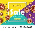 happy diwali festival sale... | Shutterstock .eps vector #1529763449