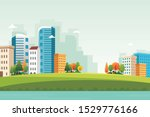 downtown nature landscape with... | Shutterstock .eps vector #1529776166