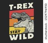 dinosaur t_rex illustration ... | Shutterstock .eps vector #1529796950