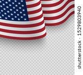 waving flag of the united... | Shutterstock .eps vector #1529803940