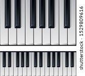 realistic piano keys. realistic ... | Shutterstock .eps vector #1529809616